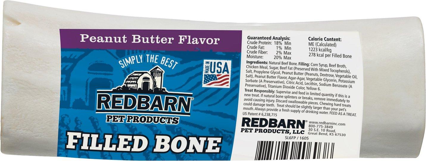 Redbarn Large Peanut Butter Filled Bones Dog Treats