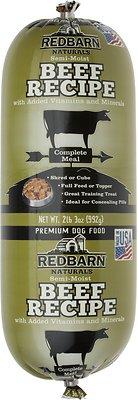 Redbarn Naturals Beef Recipe Dog Food Roll, 2-lb 3-oz