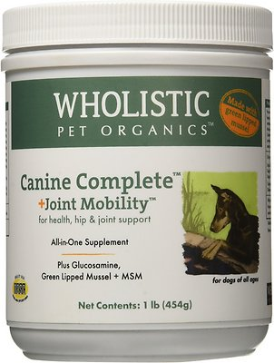Wholistic Pet Organics Canine Complete Joint Mobility with Green Lipped Mussel Supplement