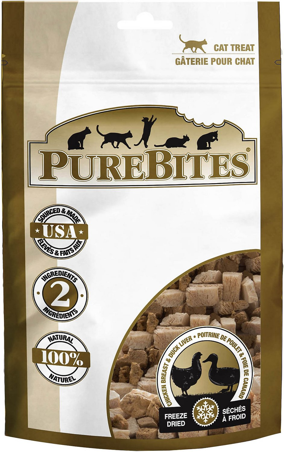 PureBites Chicken Breast & Duck Freeze-Dried Cat Treats, 1.12-oz bag