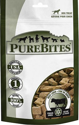 PureBites Beef Liver Freeze-Dried Dog Treats