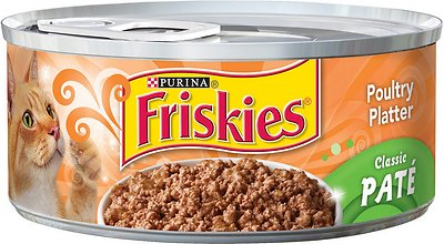 Friskies Classic Pate Poultry Platter Canned Cat Food, 5.5-oz
