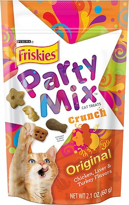 Friskies Party Mix Crunch Original Cat Treats, 2.1-oz bag
