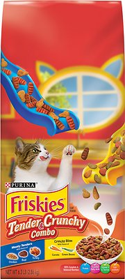 Friskies Tender & Crunchy Combo Dry Cat Food, 6.3-lb bag