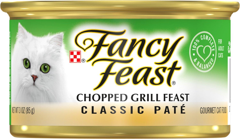 Fancy Feast Classic Chopped Grill Feast Canned Cat Food, 3-oz