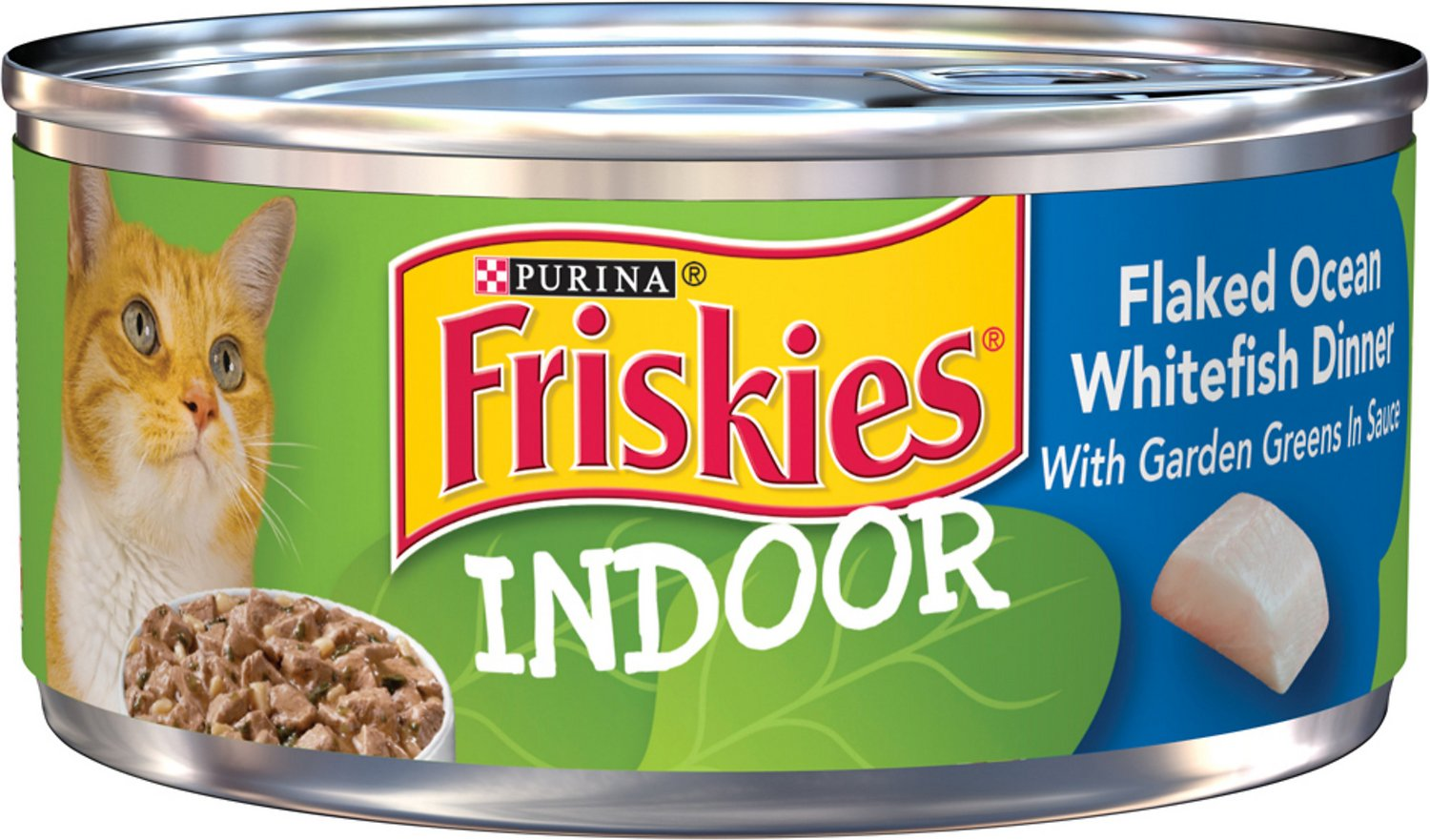 Friskies Indoor Flaked Ocean Whitefish Dinner Canned Cat Food,  5.5-oz