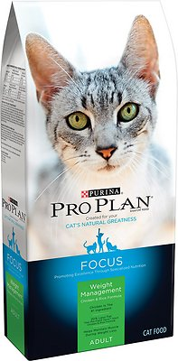Purina Pro Plan Focus Adult Weight Management Chicken & Rice Formula Dry Cat Food, 7-lb bag