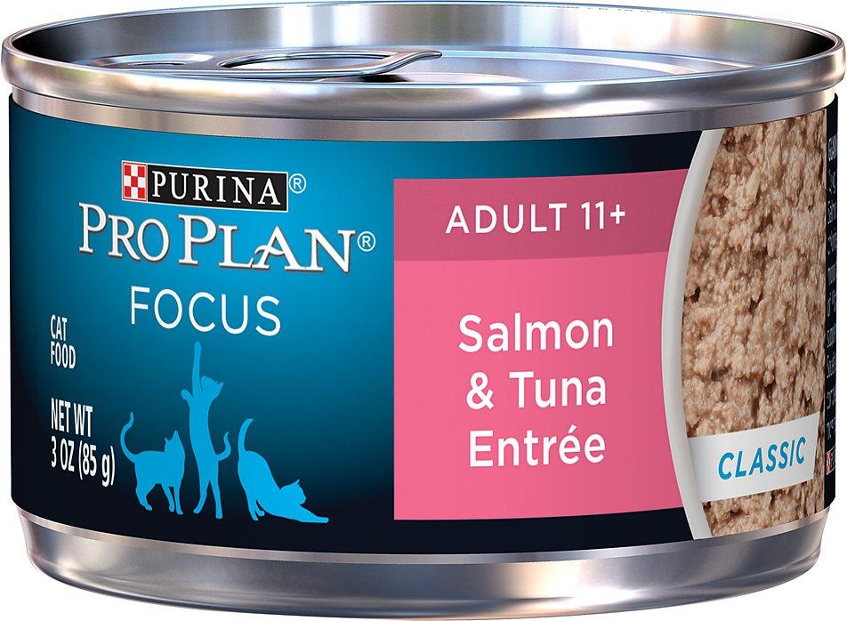 Purina Pro Plan Focus Adult 11+ Classic Salmon & Tuna Entree Canned Cat Food, 3-oz