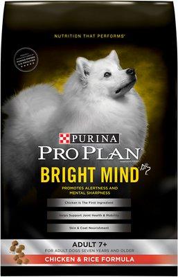 Purina Pro Plan Bright Mind Adult 7+ Chicken & Rice Formula Dry Dog Food, 30-lb bag