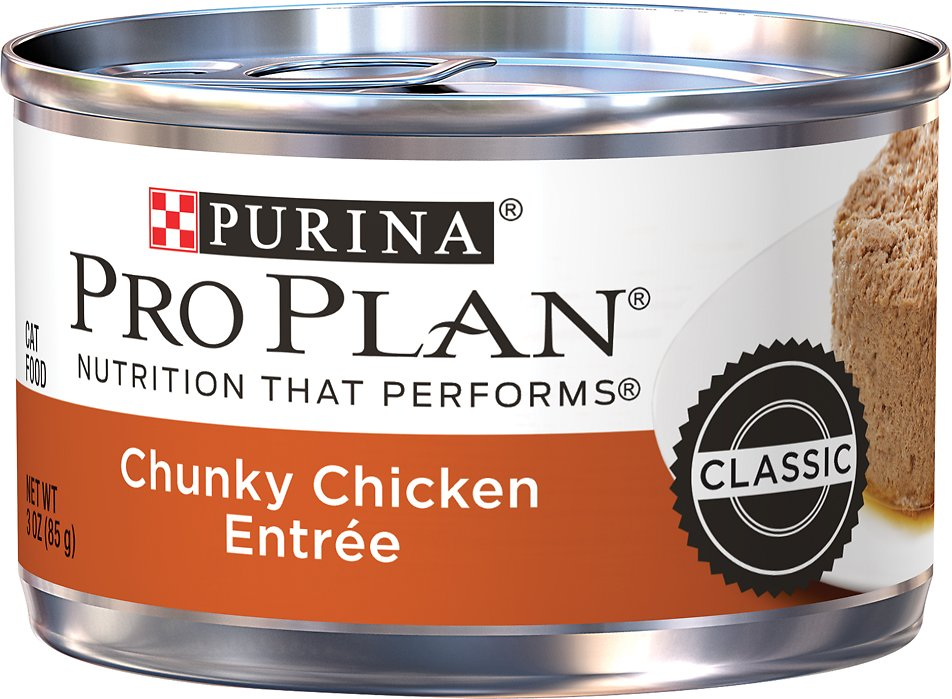 Purina Pro Plan Savor Adult Chunky Chicken Entree Canned Cat Food, 3-oz