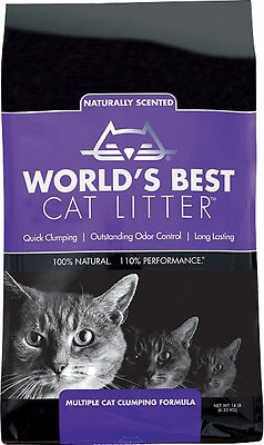 World's Best Cat Litter Lavender Scented Multiple Cat Clumping Formula, 14-lb bag