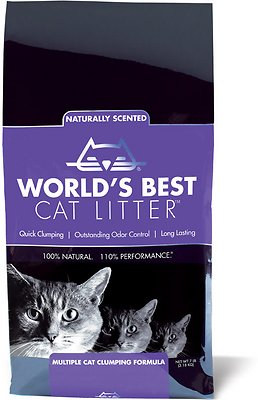 World's Best Cat Litter Lavender Scented Multiple Cat Clumping Formula, 7-lb bag