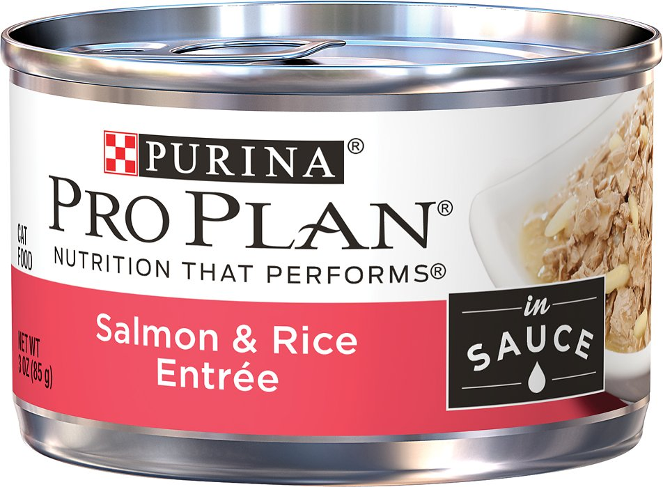 Purina Pro Plan Savor Adult Salmon & Rice Entree in Sauce Canned Cat Food, 3-oz, case of 24