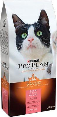 Purina Pro Plan Savor Adult Salmon & Rice Formula Dry Cat Food, 16-lb bag