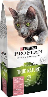 Purina Pro Plan True Nature Natural Salmon & Egg Recipe Grain-Free Dry Cat Food, 6-lb bag