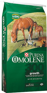 Purina Omolene 300 Growth Horse Feed, 50-lb bag