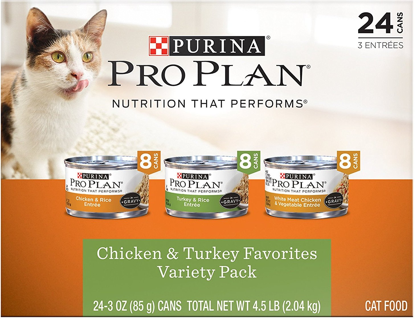 Purina Pro Plan Chicken & Turkey Favorites Variety Pack Canned Cat Food, 3-oz, case of 24