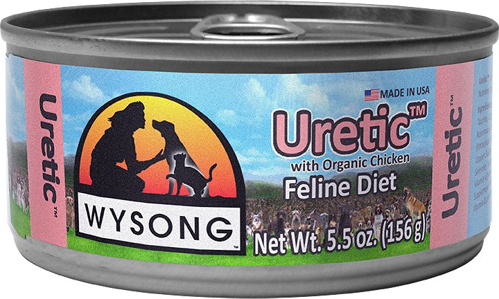 Wysong Uretic with Organic Chicken Canned Cat Food, 5.5-oz