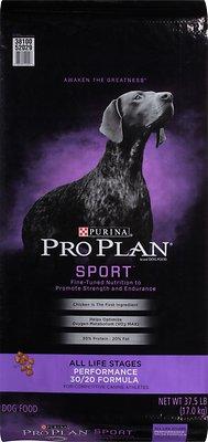 Purina Pro Plan Sport All Life Stages Performance 30/20 Formula Dry Dog Food, 37.5-lb bag