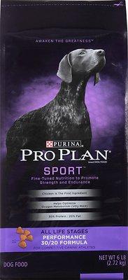 Purina Pro Plan Sport All Life Stages Performance 30/20 Formula Dry Dog Food, 6-lb bag