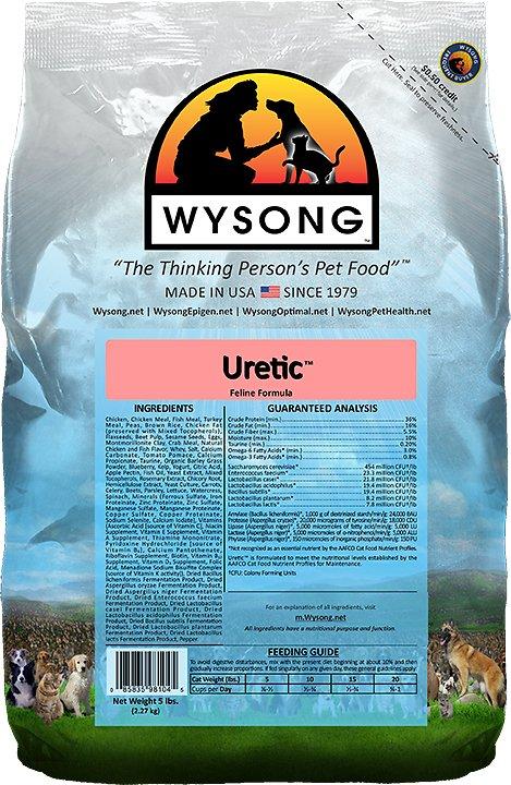 Wysong Uretic Dry Cat Food, 5-lb bag