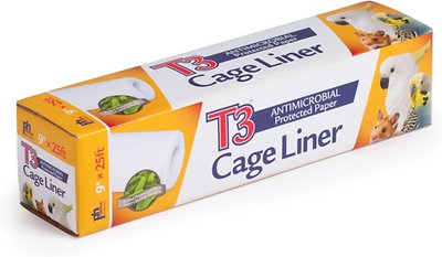 Prevue Pet Products T3 Antimicrobial Protected Paper Bird & Small Animal Cage Liner