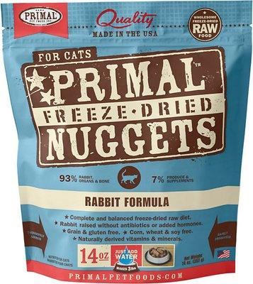 Primal Rabbit Formula Nuggets Grain-Free Raw Freeze-Dried Cat Food