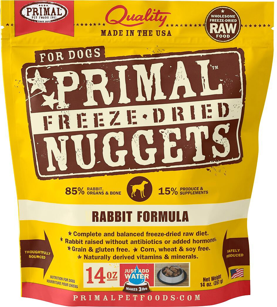Primal Rabbit Formula Nuggets Grain-Free Raw Freeze-Dried Dog Food Image