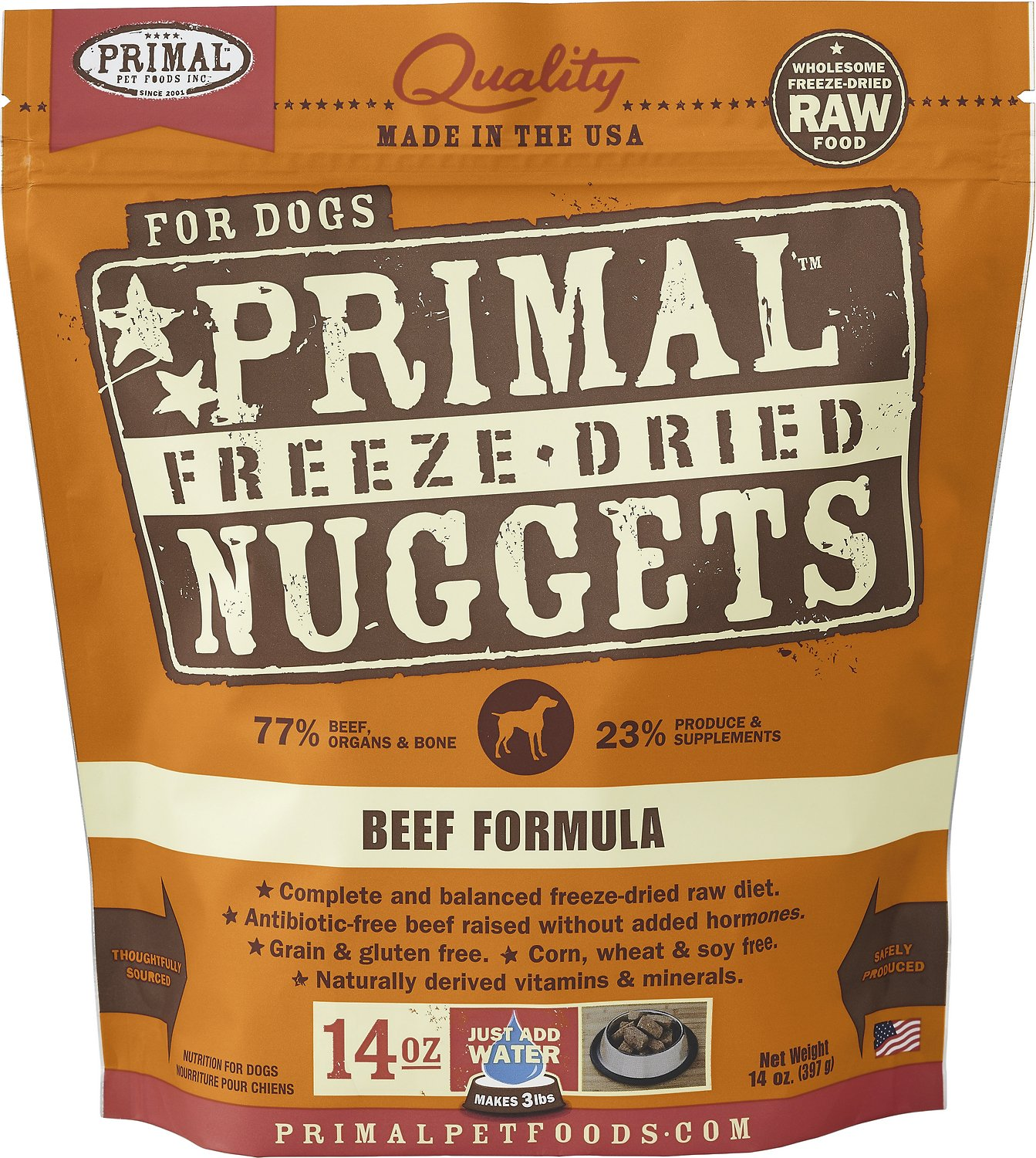 Primal Beef Formula Nuggets Grain-Free Raw Freeze-Dried Dog Food Image