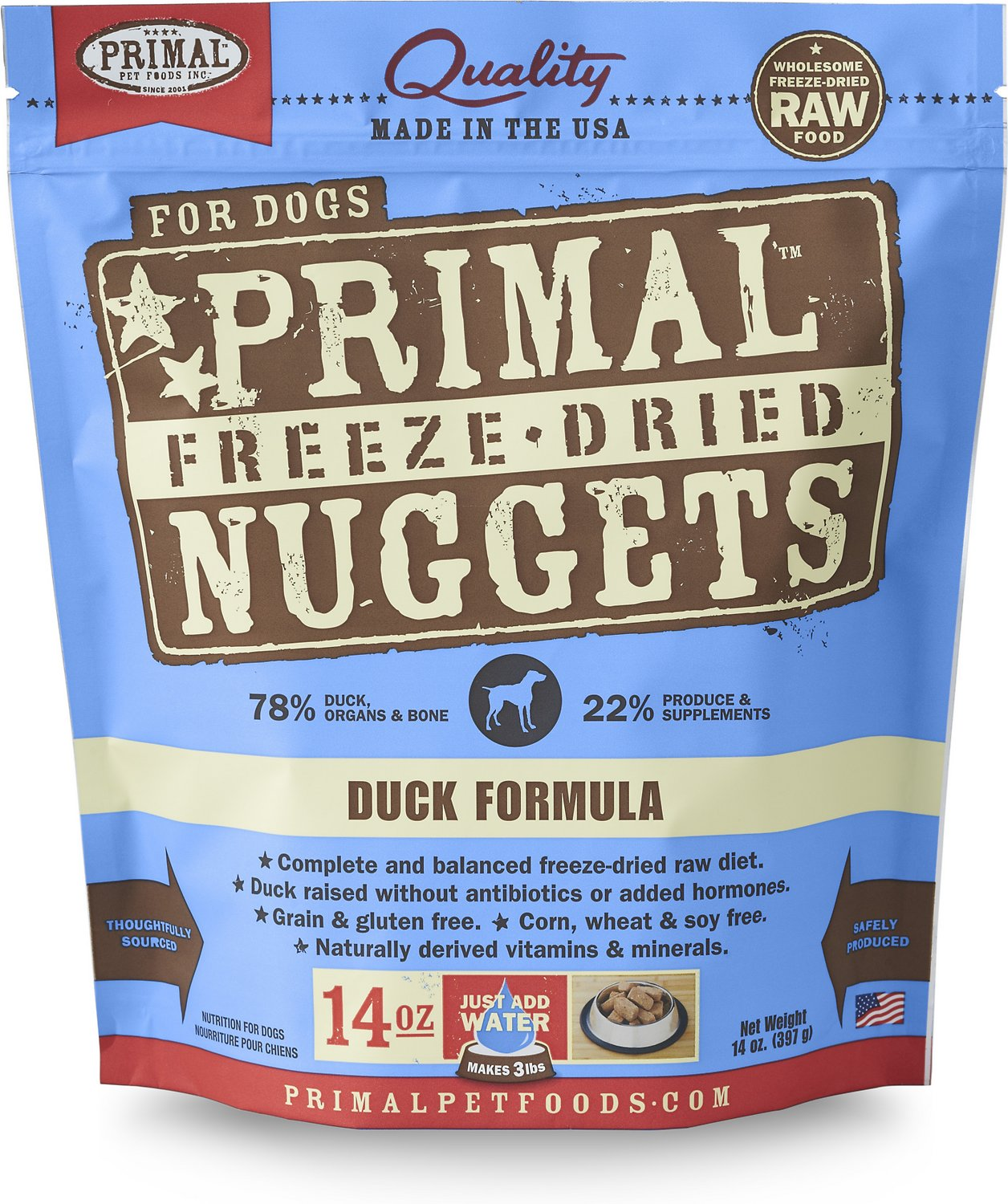 Primal Duck Formula Nuggets Grain-Free Raw Freeze-Dried Dog Food Image