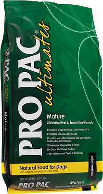 Pro Pac Ultimates Chicken Meal & Brown Rice Mature Dry Dog Food, 5-lb bag