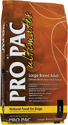 Pro Pac Ultimates Chicken Meal & Brown Rice Large Breed Adult Dry Dog Food, 28-lb bag