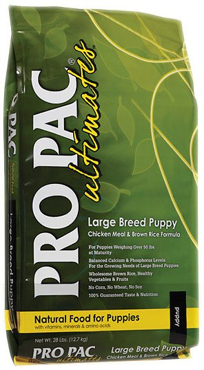 Pro Pac Ultimates Chicken Meal & Brown Rice Large Breed Puppy Dry Dog Food, 28-lb bag