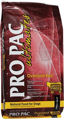 Pro Pac Ultimates Overland Red Beef & Potato Grain-Free Dry Dog Food, 5-lb
