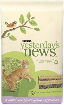 Yesterday's News Softer Texture Unscented Cat Litter, 26.4-lb bag