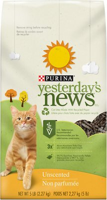 Yesterday's News Original Formula Cat Litter, 5-lb bag