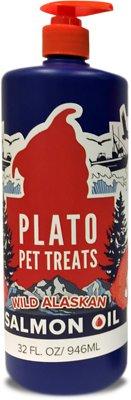 Plato Wild Alaskan Salmon Oil Dog & Cat Supplement, 32-oz bottle