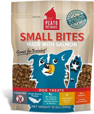 Plato Small Bites Slow Roasted Salmon Dog Treats, 11-oz bag