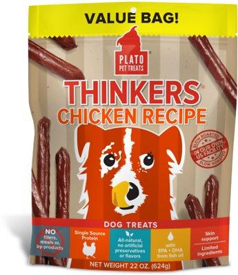 Plato Thinkers Chicken Recipe Dog Treats, 22-oz bag