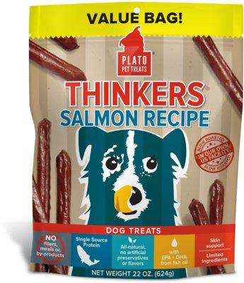 Plato Thinkers Salmon Recipe Dog Treats, 22-oz bag
