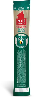 Plato Thinkers Duck Recipe Dog Treats, Single