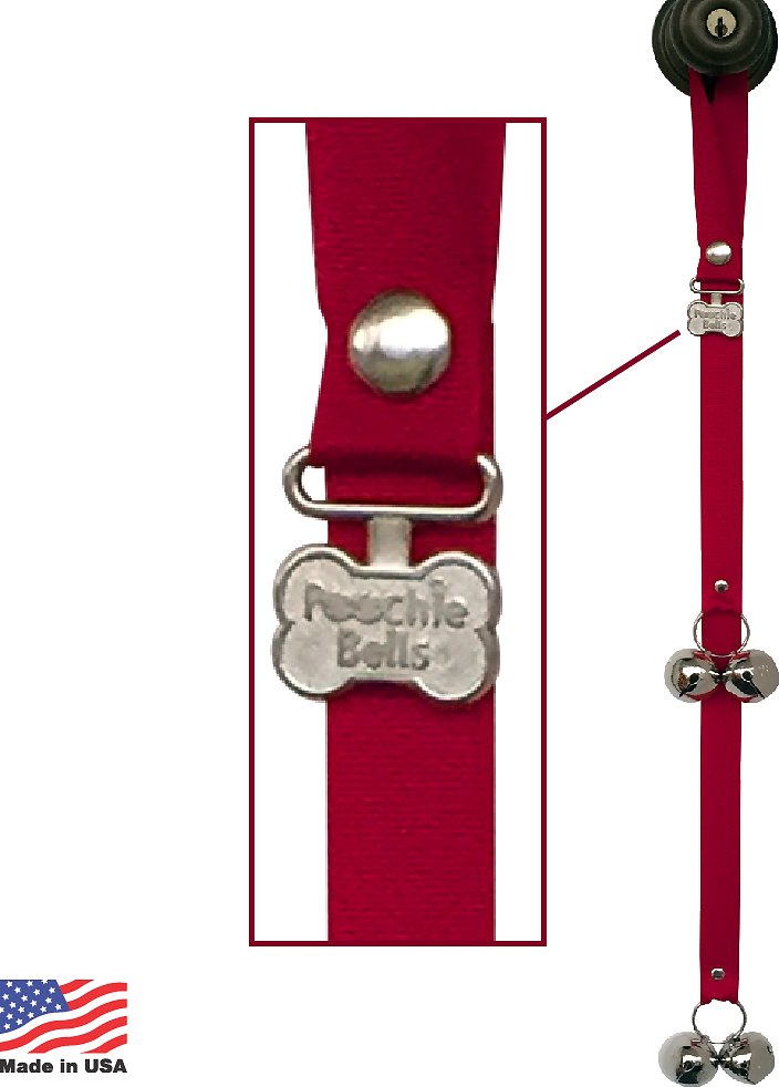 PoochieBells Proudly The Original & 100% American Made Dog Potty Doorbell, Solid Color Collection