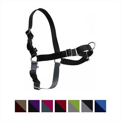 PetSafe Easy Walk Dog Harness, Black/Silver, Medium/Large