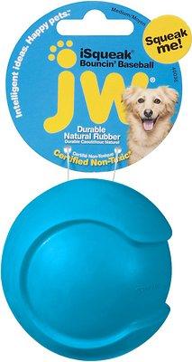 JW Pet iSqueak Bouncin' Baseball Dog Toy, Color Varies, Medium