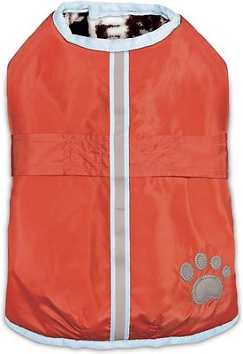 Zack & Zoey Forest Friends Reversible Nor'Easter Dog Coat, Small/Medium