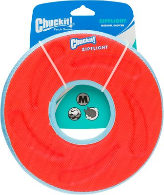 Chuckit! Zipflight Disc Dog Toy, Color Varies, Medium
