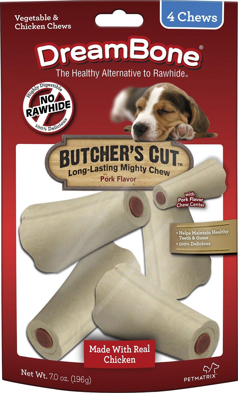 DreamBone Small Butcher's Cut Chicken Chews Dog Treats, 4 count