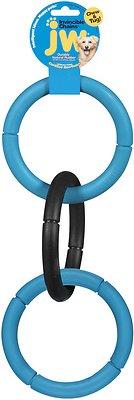 JW Pet Invincible Chains Triple Dog Toy, Color Varies, Large