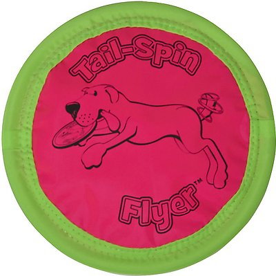Booda Soft Bite Tail Spin Flyer Floppy Disc Dog Toy, Color Varies