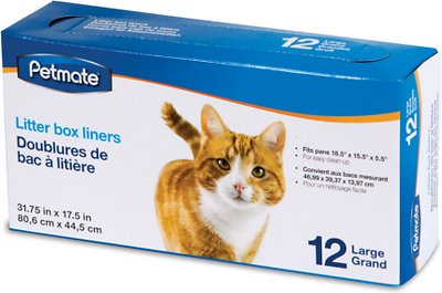 Petmate Litter Pan Boxed Liners, Large